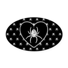 Gothic Spider Heart Oval Car Magnet