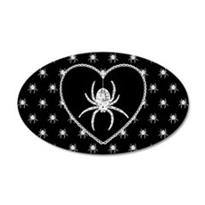 Gothic Spider Heart Wall Decal