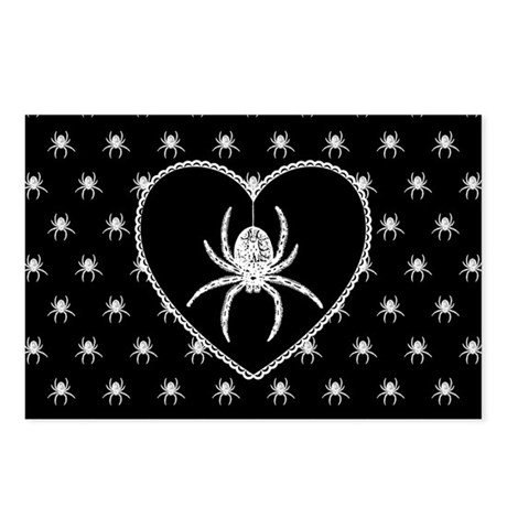 Gothic Spider Heart Postcards (Package of 8)