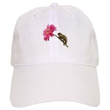 Chameleon Lizard on pink flower Baseball Baseball Cap