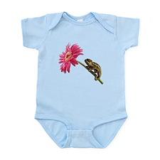 Chameleon Lizard on pink flower Body Suit