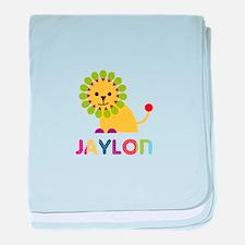 Jaylon Loves Lions baby blanket