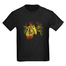 Spain Flag in Real heart T-Shirt