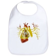 Spain Flag in Real heart Bib