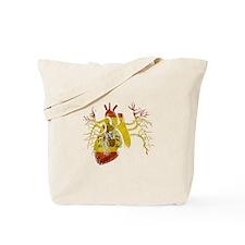 Spain Flag in Real heart Tote Bag