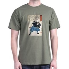 Miyamoto Musashi Two Swords Green T-Shirt