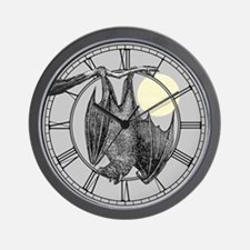Hanging Bat Wall Clock