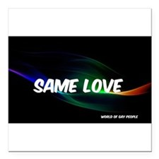 "Same Love Square Car Magnet 3"" x 3"""