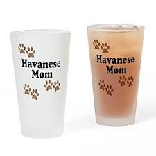 Havanese Mom Drinking Glass