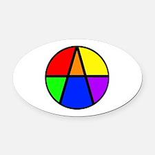 I Am An Ally Oval Car Magnet