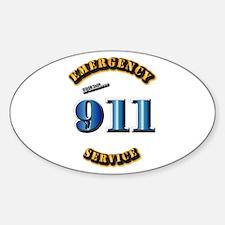 Emergency Service - 911 Sticker (Oval)