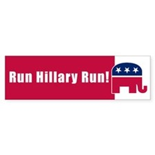 RUN HILLARY RUN! Bumper Bumper Sticker