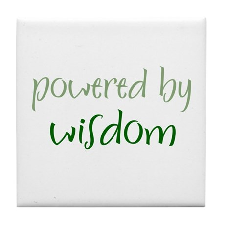 Powered By wisdom Tile Coaster