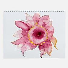 Watercolor Flowers & Giraffes Wall Calendar