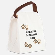 Miniature Schnauzer Mom Canvas Lunch Bag