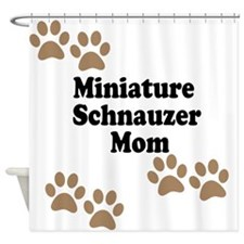 Miniature Schnauzer Mom Shower Curtain