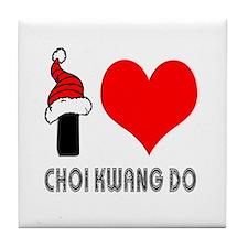 I Love Choi Kwang-Do Tile Coaster