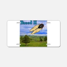 Cicada Brood II Flying Aluminum License Plate