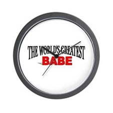"""The World's Greatest Babe"" Wall Clock"