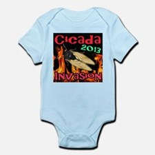 Brood II Cicada Flames Infant Bodysuit