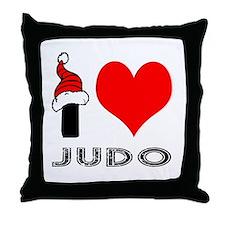 I Love Judo Throw Pillow