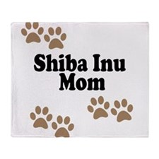 Shiba Inu Mom Throw Blanket