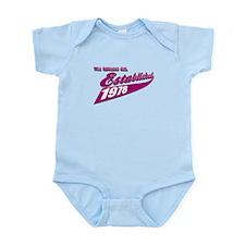 Established in 1978 birthday designs Infant Bodysu