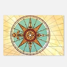 Antique Compass Rose Postcards (Package of 8)