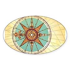 Antique Compass Rose Decal