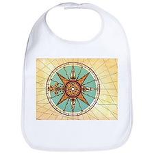 Antique Compass Rose Bib