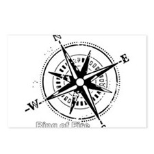 Ring of Fire Graphic Compass Postcards (Package of