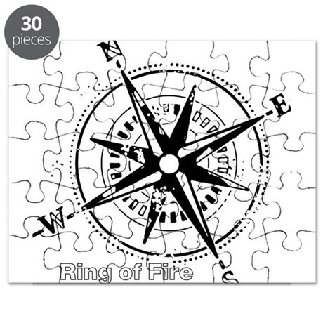 Ring of Fire Graphic Compass Puzzle