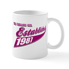 Established in 1987 birthday designs Mug