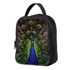 Peacock Neoprene Lunch Bag