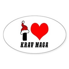 I Love Krav Maga Decal