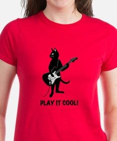 Cat Playing the Guitar Tee
