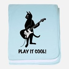 Cat Playing the Guitar baby blanket