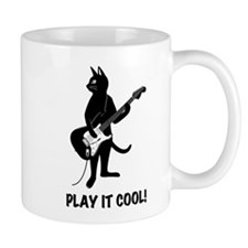 Cat Plays the Guitar Mug