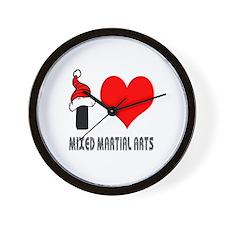 I Love Mixed Martial Arts Wall Clock