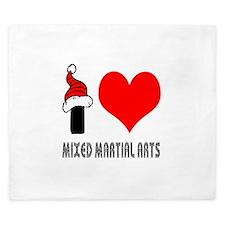 I Love Mixed Martial Arts King Duvet