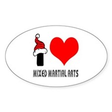 I Love Mixed Martial Arts Decal