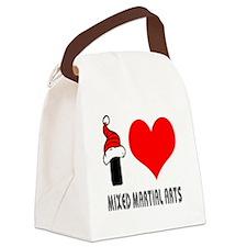 I Love Mixed Martial Arts Canvas Lunch Bag