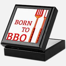 Born To BBQ Keepsake Box