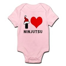 I Love Ninjutsu Infant Bodysuit