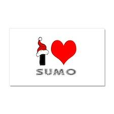 I Love Sumo Car Magnet 20 x 12