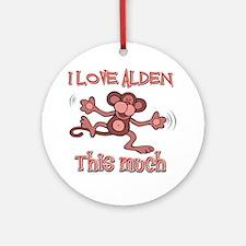 I love Alden Ornament (Round)