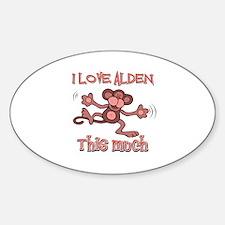 I love Alden Sticker (Oval)