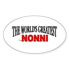 """""""The World's Greatest Nonni"""" Oval Decal"""