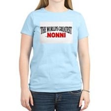 """The World's Greatest Nonni"" Women's Pink T-Shirt"