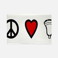 Lacrosse Peace Love Lax Rectangle Magnet
